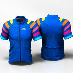 BLUE RAINBOW Camiseta jersey de ciclismo para mujer y hombre nomadas
