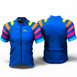 BLUE RAINBOW  Cycling Jersey women and men