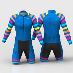 BLUE RAINBOW skating suit for boys, girls, men, women