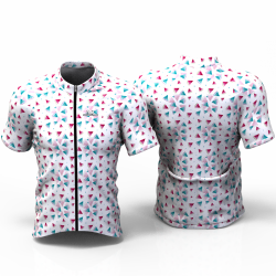 SANDIA WHITE Cycling Jersey women and men