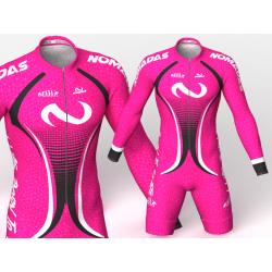 Evolution fuchsia Nomadas skating suit, beautiful and elegant design for boys, girls, men and women.