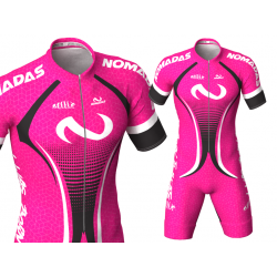 Evolution fuchsia Nomadas skating suit, beautiful and elegant design for boys, girls, men and women.