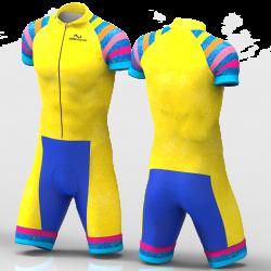 Yellow rainbow skating suit for girl women man boys