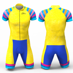 Yellow rainbow skating suit for girl women man boys