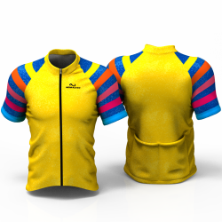 YELLOW RAINBOW Cycling Jersey women and men