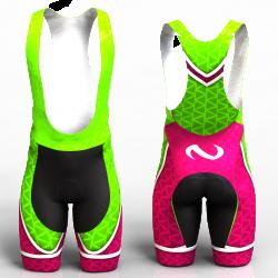 ABSTRACT TRIANGLES NEON GREEN-FUCHSIA pantaloneta de ciclismo nomadas PARA HOMBRE Y MUJERES