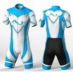 ABSTRACT TRIANGLES BLUE Cycling suit for men women boys girls
