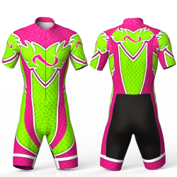 ABSTRACT TRIANGLES FUCHSIA Cycling suit FOR MEN WOMEN BOYS GIRLS