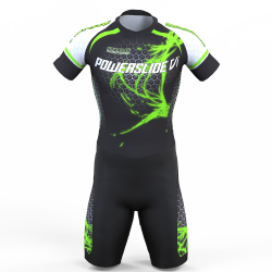 POWERSLIDE VIRUS NEON GREEN SKATING SUIT FOR BOYS, GIRLS, MEN, WOMEN