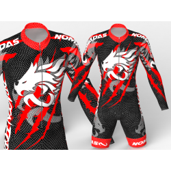 Dragon force Red skating suit