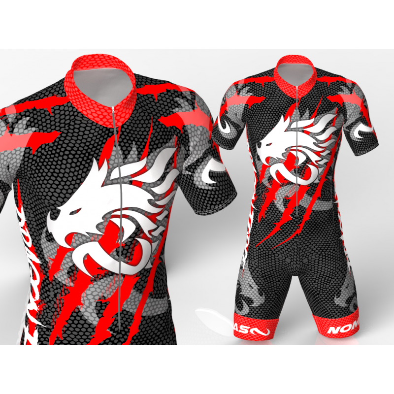 Dragon Force Red Cycling suit FOR MEN WOMEN BOYS GIRLS