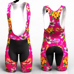 Hibiscus Fuchsia Cycling Shorts for women men boys girls