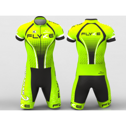 Flyke neon green skating suit for boys, girls, men, women