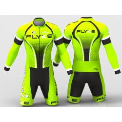 Flyke neon green skating suit for boys, girls, men, women