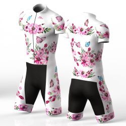 white peonies skating suit for men and women