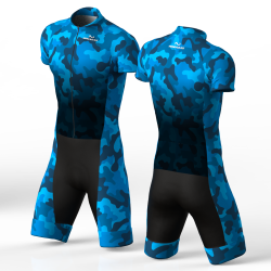 Camouflage Blue skating suit, beautiful stylish design for boys, girls, men and women