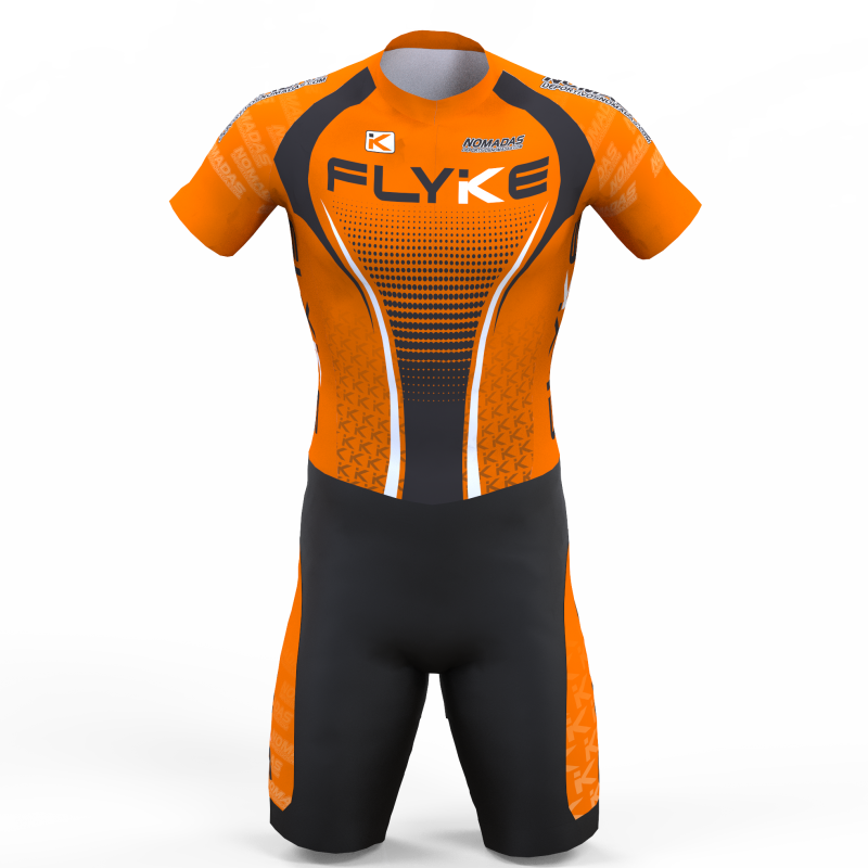 Flyke orange skating suit