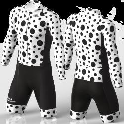 Black Dots skating suit, beautiful stylish design for boys, girls, men and women