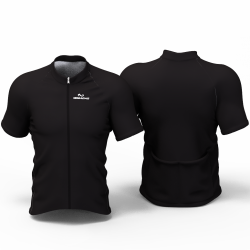 Full Black Cycling Jersey women and men