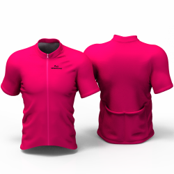 Full Fuchsia Cycling Jersey women and men