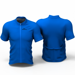 Full Blue Cycling Jersey women and men