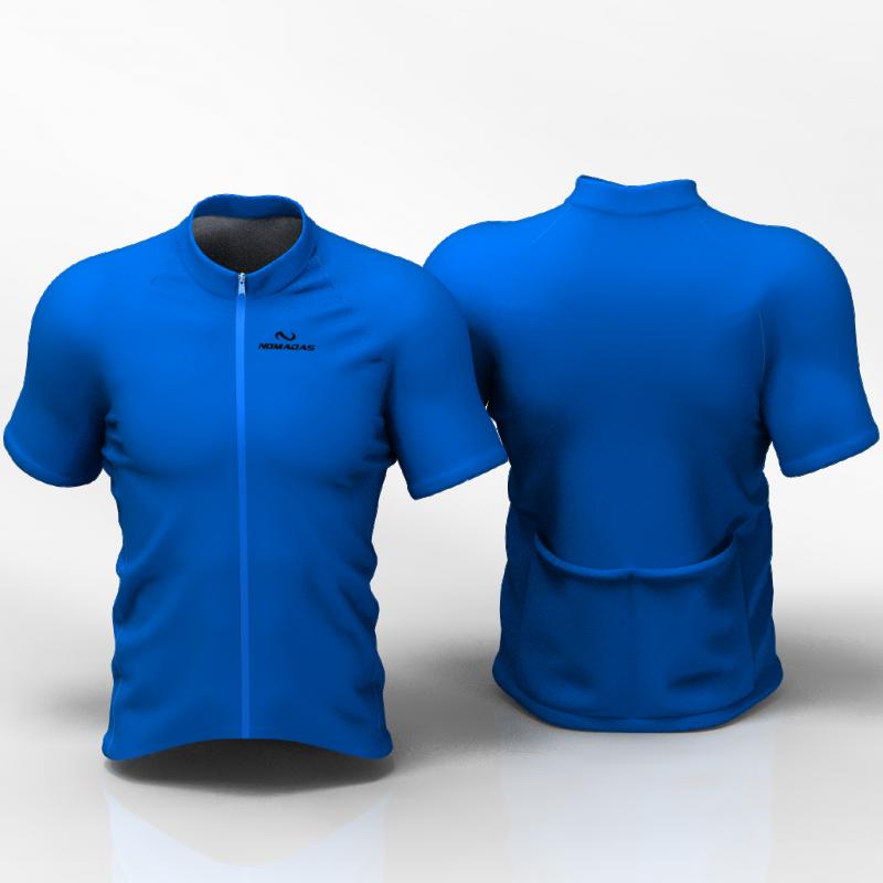 Full blue Camiseta Jersey de ciclismo nomadas PARA HOMBRES Y MUJER