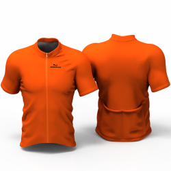 Full Orange Cycling Jersey women and men