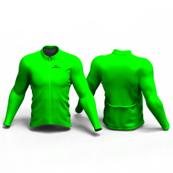 Full Neon Green Cycling Jersey women and men