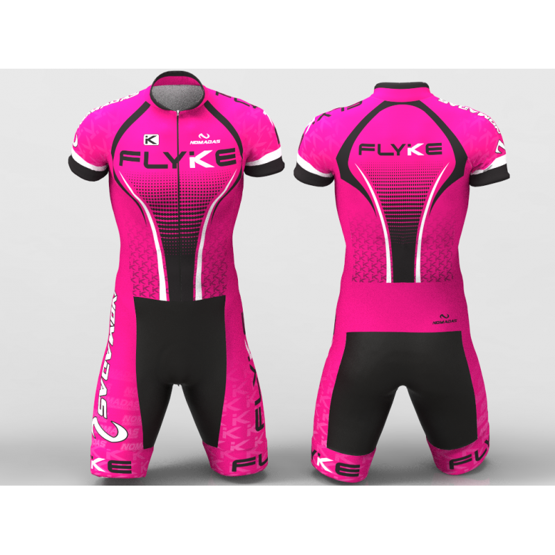 Flyke fuchsia skating suit