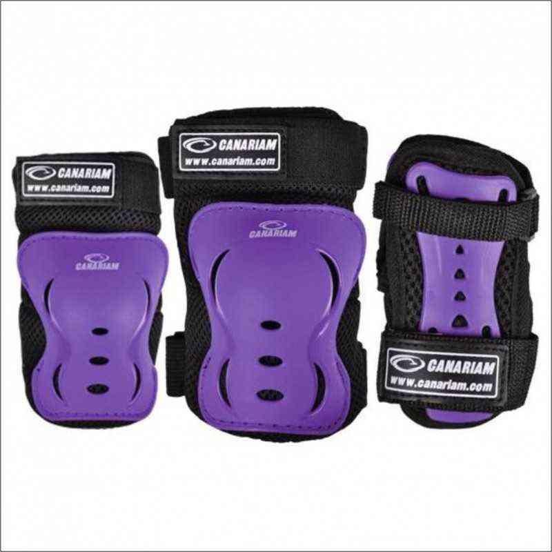 kit de proteccion Canariam Morado (rodillera,codera,guantes) baratos economicos para niños niñas adultos