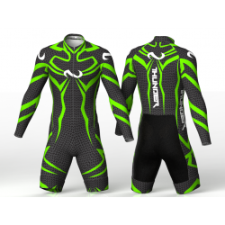 Thunder neon green skating suit, for girls boys women and men