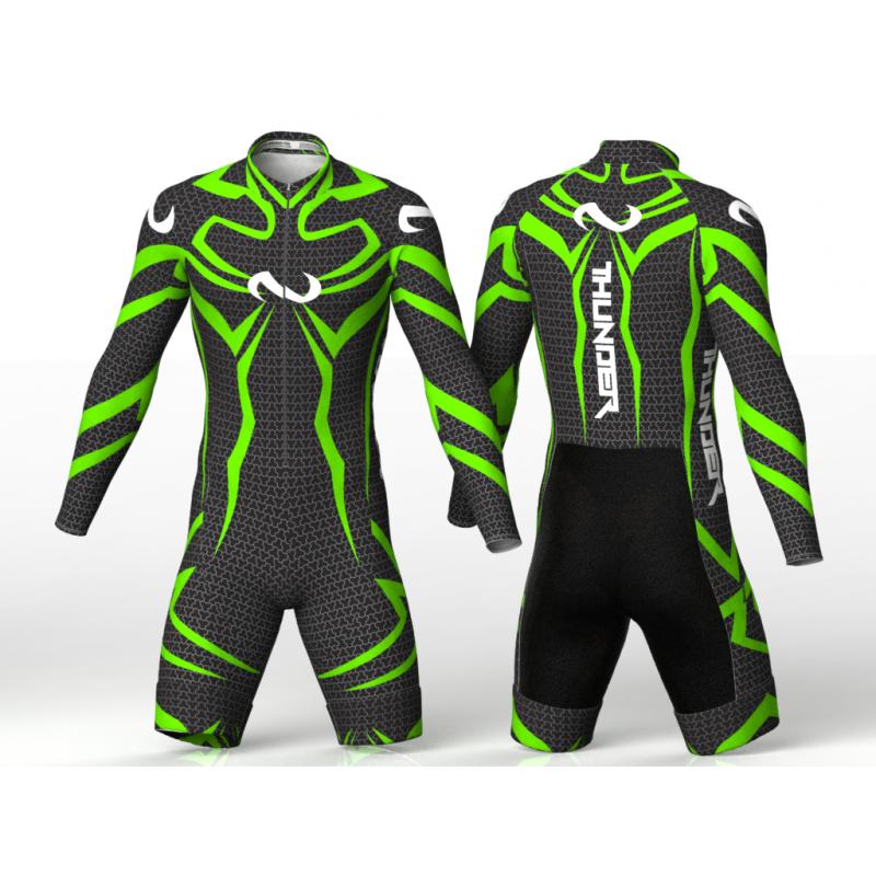 Thunder neon green skating suit, for girls boys women and men