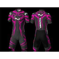 Thunder fuchsia skating suit, for girls boys women and men