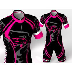 fuchsia panthers skating suit