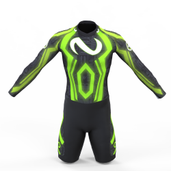 Cyber neon green skating suit