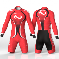 Evolution orange skating suit for girls, boys, men and women