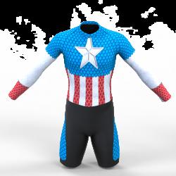 licra de patinaje captain america para niños y hombres