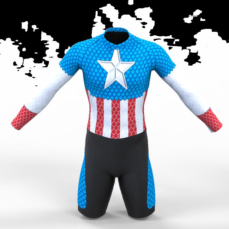 American captain skating suit for girls, boys, men and women