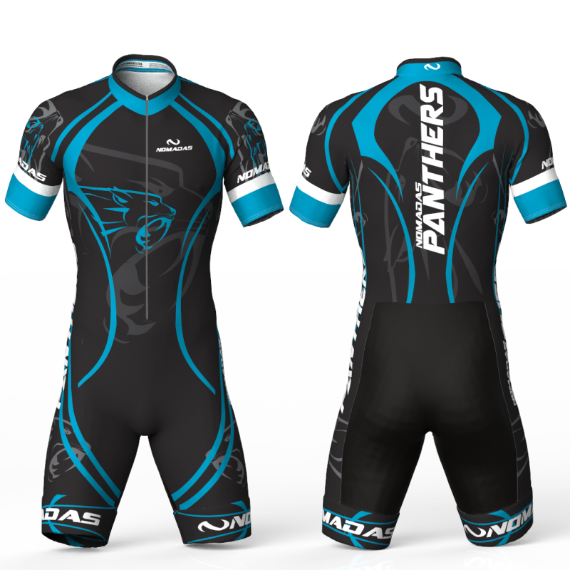 Panther Turquoise skating suit for girls, boys, men and women.