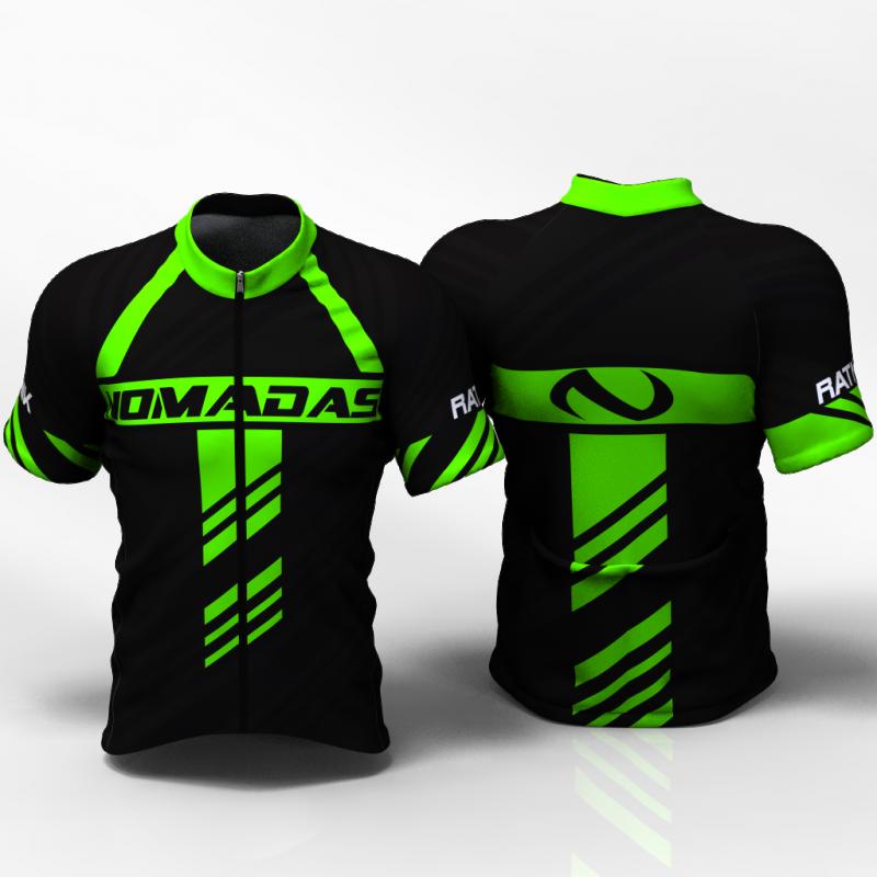 Ratnik verde neon Camiseta de ciclismo para mujer y hombre nomadas