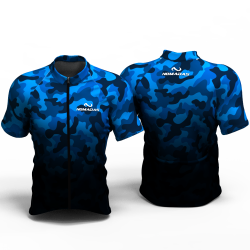 Camouflaged Blue Cycling jersey