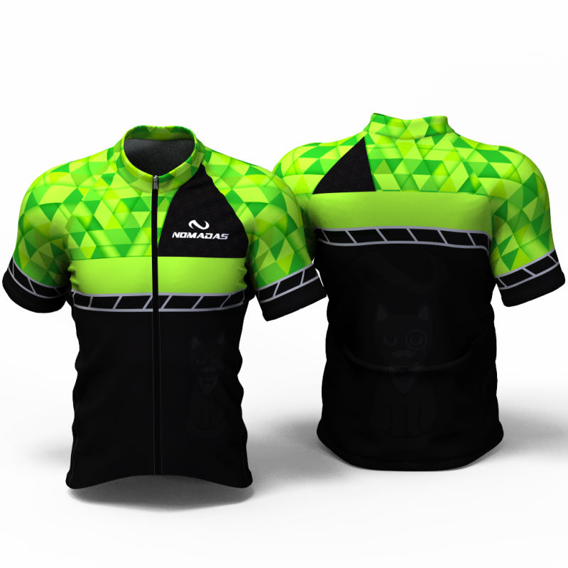 Green triangles Cycling jersey