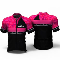 Fuchsia triangles Cycling jersey
