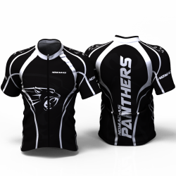 Panther White Cycling jersey