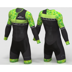 KITTY NEON GREEN INLINE SKATING SUIT long sleeve