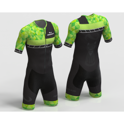 KITTY NEON GREEN INLINE SKATING SUIT