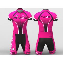 flyke fucsia Enterizo para ciclismo hombres mujeres