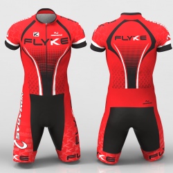 Flyke Red Cycling suit