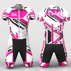 Tecno fuchsia Cycling suit
