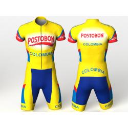 colombia amarilla Enterizo para ciclismo para hombres mujeres